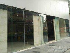 南京無框自動平移門案例_南京新街口天安國際大廈項目圖片
