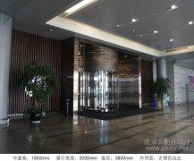 南京豪華兩翼自動旋轉門案例_南京祿口機場鉑爾曼大酒店項目