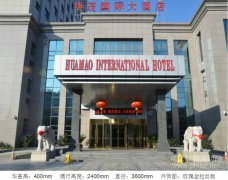 豪華兩翼自動旋轉門案例_華茂國際大酒店項目
