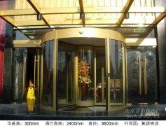 興化三翼圓形展臺自動旋轉門案例_興化市皇冠大酒店項目圖片