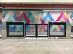 杭州蕭山BRT站臺安全門案例_杭州蕭山BRT站臺安全門項目圖片
