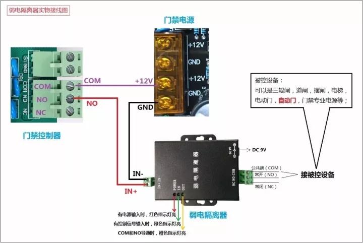 弱電隔離器實物接線圖