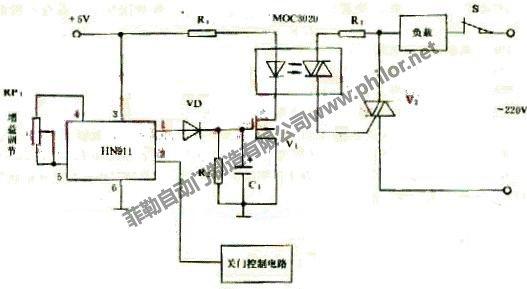 自動門控制電路原理圖